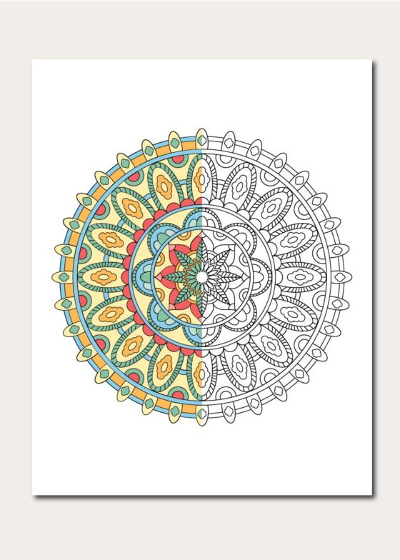Relieve Daily Stresses with Beautiful Free Mandala Coloring Pages | 784x560